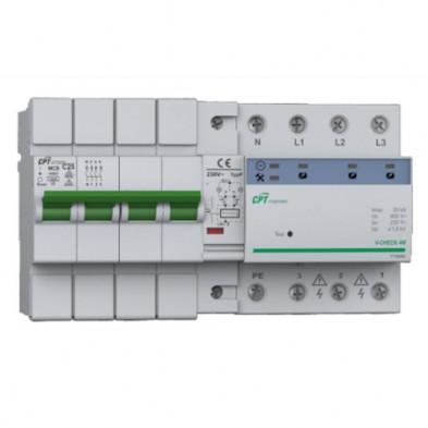Protector contra Sobretensiones Permanentes y transitorias con rearme automático V-CHECK 4MR