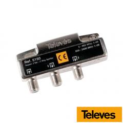 Repartidor 2 Salidas 5-2400 MHz 4/5 dB 5150 Televes