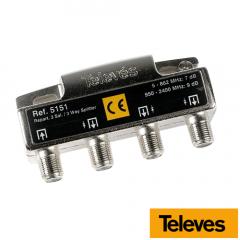 Repartidor 3 Salidas 5-2400 MHz 7/9 dB 5151 Televes