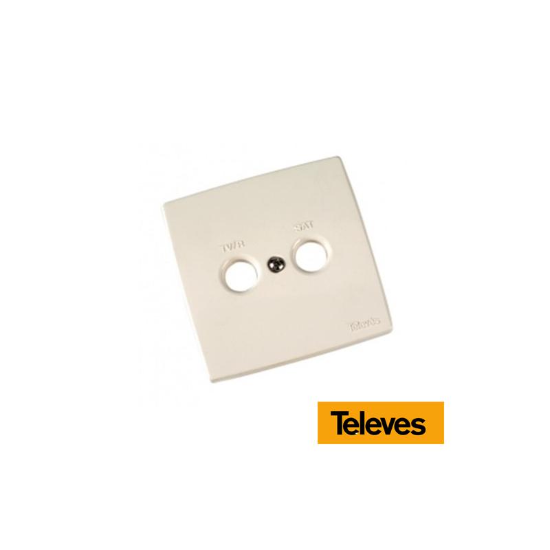 Placa embellecedora de toma TV/FM-SAT