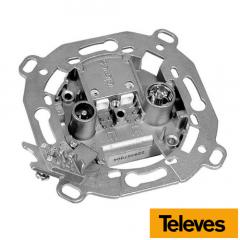 Caja de paso 20 dB + DC 5-2150 MHz Televes 5236