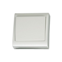 Conmutador Superficie 80x80mm Blanco 10A 250V