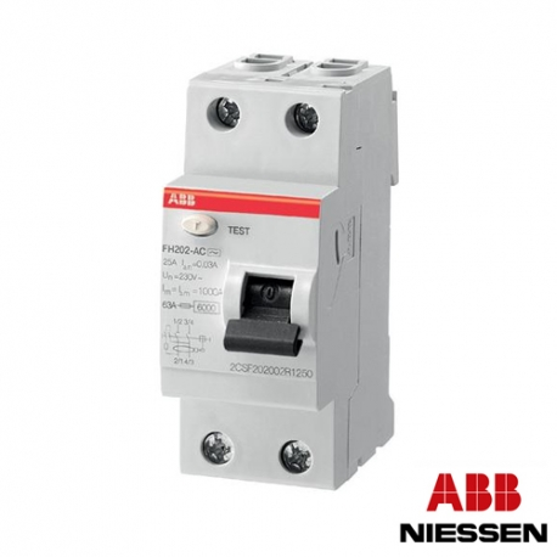 Interruptor Diferencial FH202 Clase AC 25A 30mA ABB
