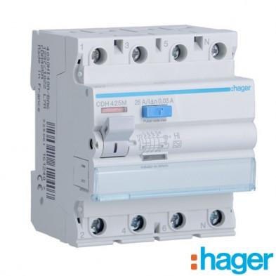 Interruptor diferencial tipo A superinmunizado 4P 40A 30mA