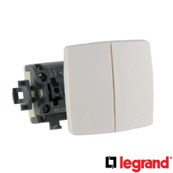 Doble Interruptor Conmutador Superficie Legrand Oteo 086120