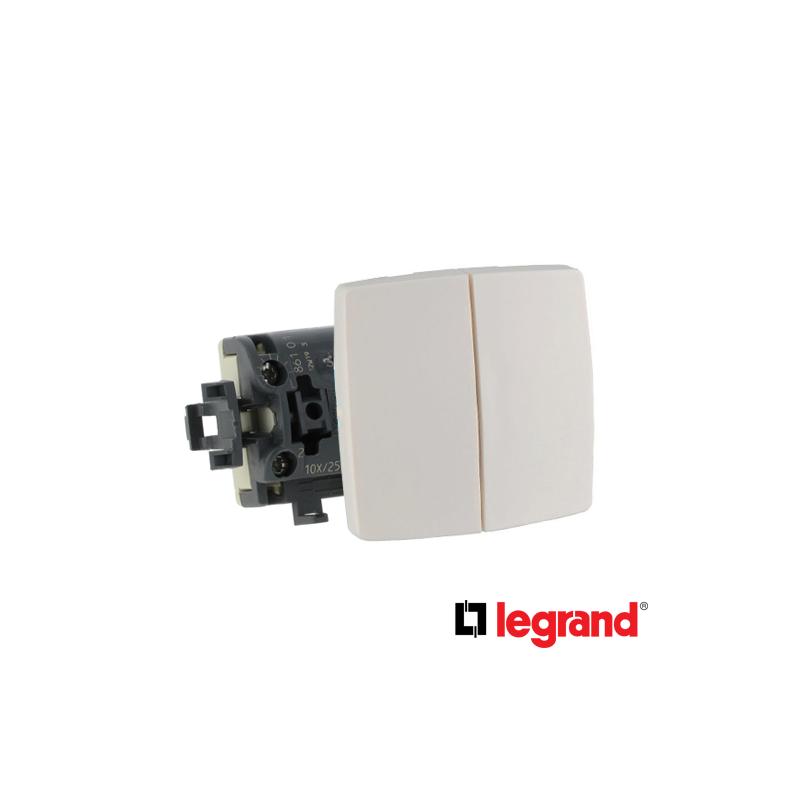 Legrand oteo Mecanismo doble interruptor mando serie cuadrada oteo