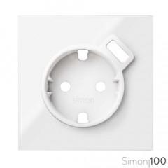 Tapa para la base de enchufe schuko con cargador USB blanco Simon 100