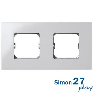 Marco Compacto 2 Elementos Blanco con Bastidor Simon 27 Play