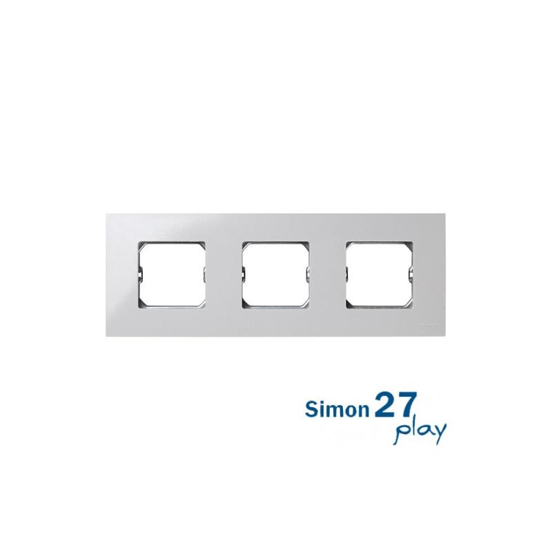 Marco Compacto 3 Elementos Blanco con Bastidor Simon 27 Play