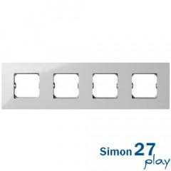 Marco Compacto 4 Elementos Blanco con Bastidor Simon 27 Play