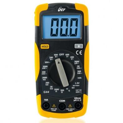 Multímetro digital escalas manuales CATIII 600V G44