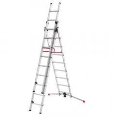 Escalera de aluminio combinada 3 tramos con estabilizador curvo ProfiLOT