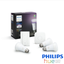 KIT INICIACIÓN Philips HUE con 3 Bombillas E27 + Bridge + Interruptor