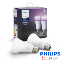 KIT 2 Bombilla LED E27 Philips HUE Blanca y Color