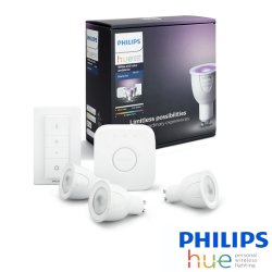 KIT de INICIO Philips HUE 3 Bombillas GU10