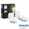 KIT de Inicio Philips HUE E27 Luz Blanca Cálida