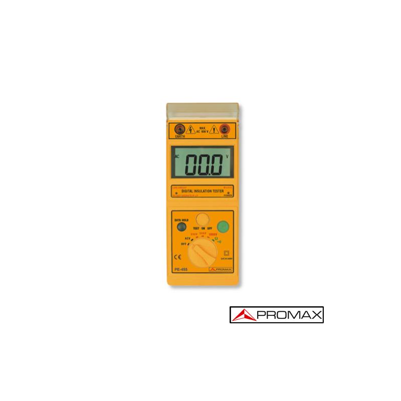 Medidor de aislamiento PE-455