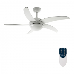 Ventilador de techo con luz y mando modelo Habana