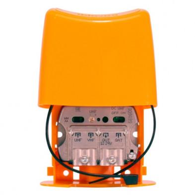 Amplificador de mástil NanoKom 3 entradas: UHF-VHFmix-FImix