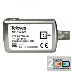 Filtro LTE 5G HR 47-694MHz (Canal 48)
