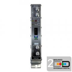 Amplificador MONOCANAL Adyacente UHF G52 dB Alcad