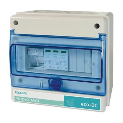 Cuadro de Protección contra Sobretensiones Transitorias en Sistemas Fotovoltaicos ECO-DC-INV
