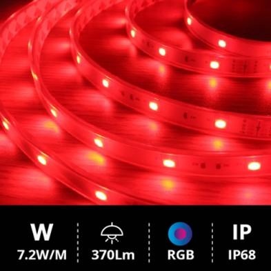 Tira LED 5 metros SMD5050 7.2W RGB IP68 24V