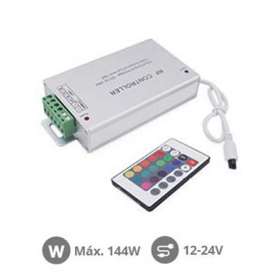 Controlador para tiras LED RGB 144W 12V-24V