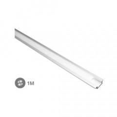 Perfil aluminio empotrar translucido 1M tiras LED