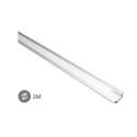 Perfil aluminio empotrar translucido 2M Tiras LED