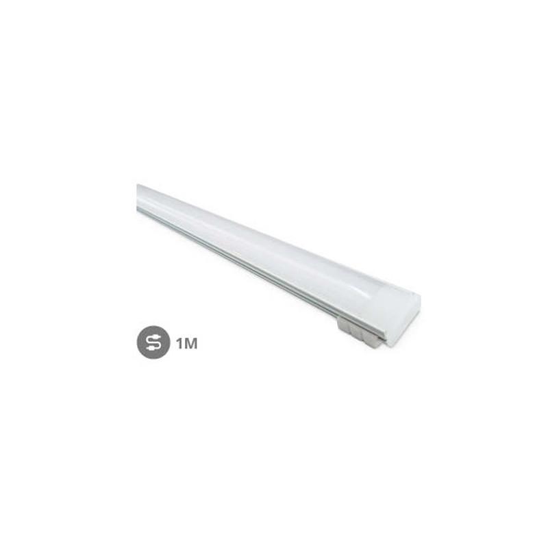Perfil aluminio translucido 1M Tiras LED