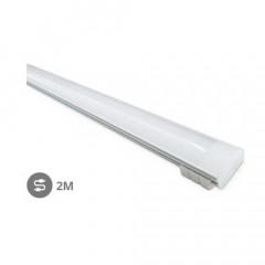 Perfil aluminio translucido 2M Tiras LED