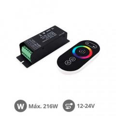 Controlador para tiras LED SMD RGB 216W 12V-24V