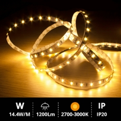 Rollo 5M LED SMD5630 (14.4W) 2700K-3000K IP20 24V