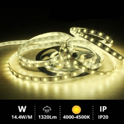 Rollo 5M LED SMD5630 (14.4W) 4000K-4500K IP20 24V