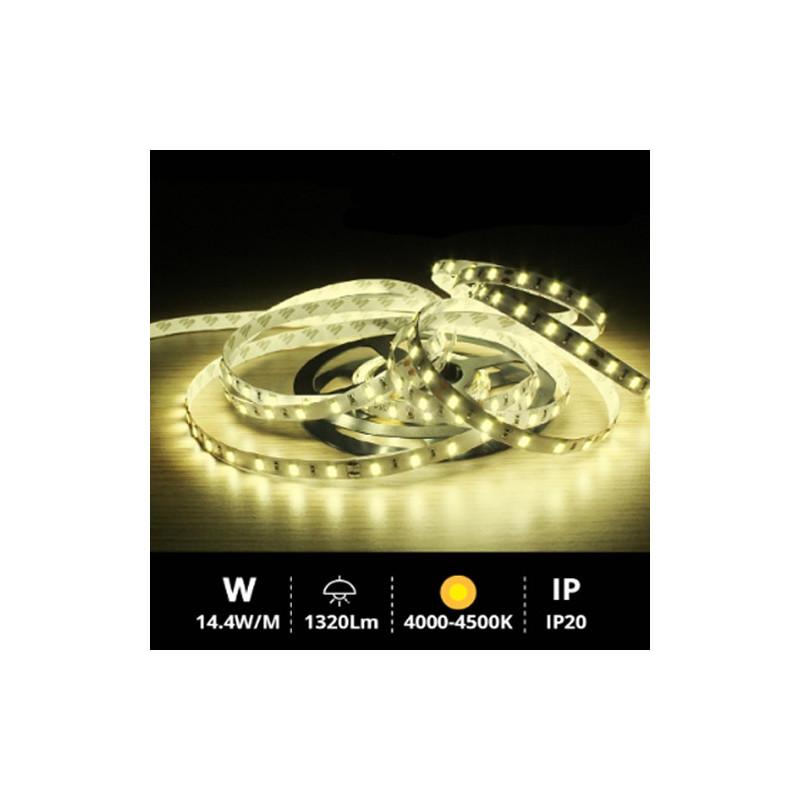 Rollo 5M LED SMD5630 (14.4W) 4000K-4500K IP20 24V