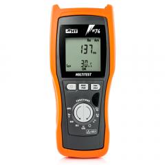 M74 Instrumento para verificaciones de seguridad UNE 20460 con funciones multímetro TRMS