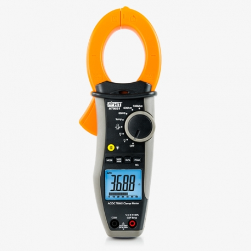 HT9021 Pinza Amperimétrica CC/CA TRMS CAT IV con Medida de Temperatura