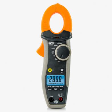 HT9015 Pinza amperimétrica TRMS 600A CAT IV con medida de temperatura