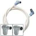 Cable coaxial macho-hembra 1 m