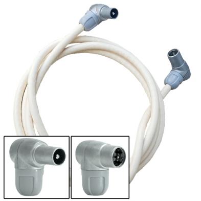 Cable coaxial macho-F rápido 1 metro