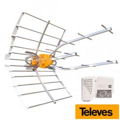 Antena Ellipse Televes Dividendo Digital (LTE700) + Fuente PicoKom