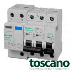 Protector contra sobretensiones Bifásico - COMBI 2P40T12,5/50B – Trans. SPD 12,5/50kA, perm. POP 240Vac + IGA/MCB 2x40A
