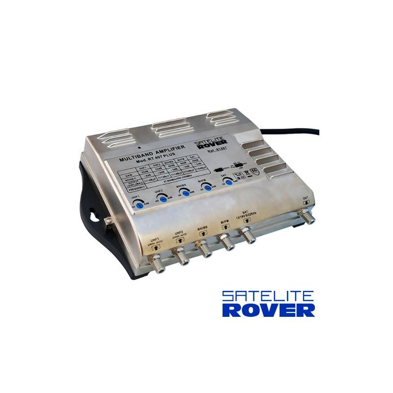 Central Amplificadora Banda Ancha RVT - 407 LTE 47-790Mhz SAT 950-2150Mhz