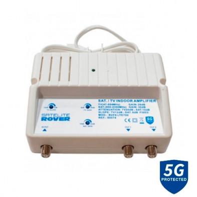 Amplificador Interior TV+SAT LTE 80074 Satélite Rover