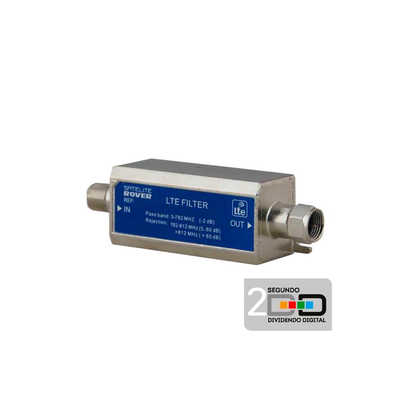 Filtro Enchufable LTE C48 694-862MHz 5G Satélite Rover