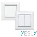 Pulsadores inalámbricos de pared de 2 o 4 canales YESLY