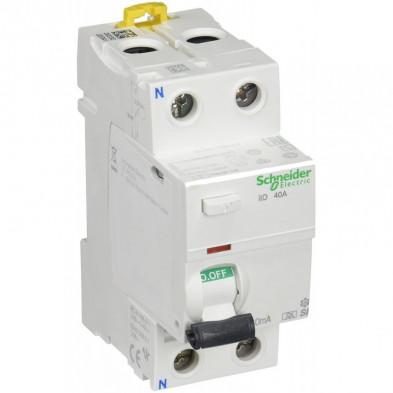 Interruptor Diferencial iID 2P 40A 30mA SuperInmunizado Clase A SI Schneider - Made in Spain