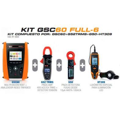 KIT GSC60 FULL 6 Instrumento Multifunción + G50, G52 y HT309 de HT Instruments