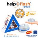Help Flash Smart Luz de Emergencia Inteligente V16 con Base Imantada Homologada DGT